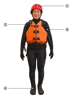 hanazono canyoning niseko outfit