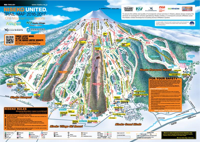 Niseko Trail Map 2017